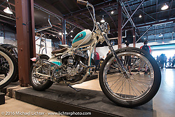 Nick Merry's 1939 WLD Harley-Davidson on Saturday in the Handbuilt Motorcycle Show. Austin, TX, USA. April 9, 2016.  Photography ©2016 Michael Lichter.