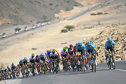 February 15, 2018 - Muscat, Oman - riders of Astana Pro Team during stage 3 of the 9th edition of the 2018 Tour of Oman cycling race, a stage of 179.5 kms between German University of Technology and Wadi Dayqah Dam on February 15, 2018 in Muscat, Sultanate Of Oman, 15/02/2018 (Credit Image: © Panoramic via ZUMA Press)