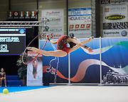 Gaia Tassotti from Ardor team during the Italian Rhythmic Gymnastics Championship in Padova, 25 November 2017.