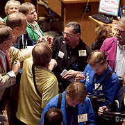 The brokers and traders keeping busy during the closing sessions at the Kansas City Board of Trade.
