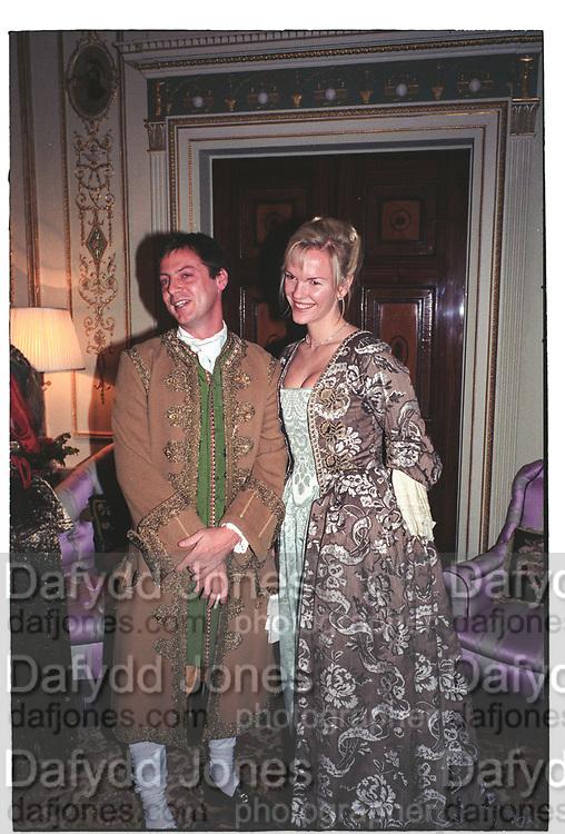 MATHEW FREUD, ELISABETH MURDOCH, Liaisons Dangeruses party. `home House, Portman Sq. London. October 1998.