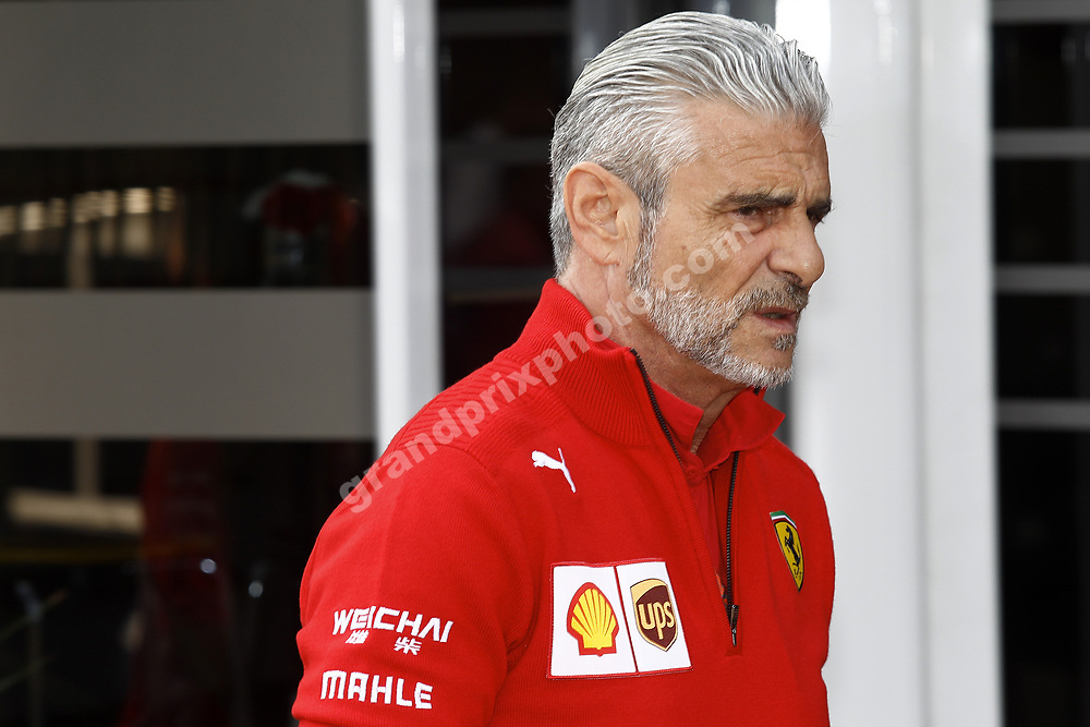 Ferrari team principal Maurizio Arrivabene before the 2018 Belgian Grand Prix at Spa-Francorchamps. Photo: Grand Prix Photo