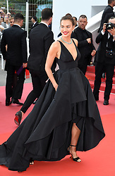 Irina Shayk attending the premiere of Yomeddine at the Palais De Festival, part of the 71st Cannes Film Festival. Photo credit should read: Doug Peters/EMPICS