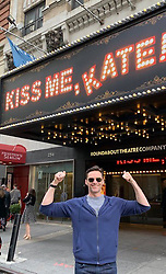 "Hugh Jackman releases a photo on Twitter with the following caption: """"Don't miss #KissMeKate on Broadway. It's incredible. Huge contracts to  @kelliohara,  #WillChase and, the entire cast and crew. With a special cheers to my dear friend and choreographer @carlylewarren. Mate, you've done it again."""". Photo Credit: Twitter *** No USA Distribution *** For Editorial Use Only *** Not to be Published in Books or Photo Books ***  Please note: Fees charged by the agency are for the agency's services only, and do not, nor are they intended to, convey to the user any ownership of Copyright or License in the material. The agency does not claim any ownership including but not limited to Copyright or License in the attached material. By publishing this material you expressly agree to indemnify and to hold the agency and its directors, shareholders and employees harmless from any loss, claims, damages, demands, expenses (including legal fees), or any causes of action or allegation against the agency arising out of or connected in any way with publication of the material."