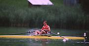 Lucerne, SWITZERLAND. POL M1X Kajw BRONIESKI. 1988 Lucerne International Regatta, Lake Rotsee. June 1988 [Mandatory Credit - Peter Spurrier/Intersport Images] 1988 Lucerne International Regatta