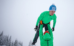 31.01.2016, Casino Arena, Seefeld, AUT, FIS Weltcup Nordische Kombination, Seefeld Triple, Skisprung, im Bild Tino Edelmann (GER) // Tino Edelmann of Germany before his Competition Jump of Skijumping of the FIS Nordic Combined World Cup Seefeld Triple at the Casino Arena in Seefeld, Austria on 2016/01/31. EXPA Pictures © 2016, PhotoCredit: EXPA/ JFK