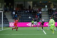 Fotball , 29. Juli 2012, Tippeligaen Eliteserien , Sogndal - Odd Grenland<br /> <br /> Foto: Christian Blom , Digitalsport Hannu Jarl Johannes Patronen, Nils Kenneth Udjus Sogndal Andrè Hansen, Morten Fevang Odd Grenland.