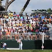 Rory McIlroy tees off from the first hole during the fourth round of theThe Barclays Golf Tournament at The Ridgewood Country Club, Paramus, New Jersey, USA. 24th August 2014. Photo Tim Clayton