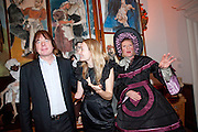 JULIAN LLOYD WEBBER;; CERRIE BURNELL; GRAYSON PERRY Founding Fellows 2010 Award Ceremony. Foundling Museum on Monday  8 March