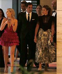 AU_1445166 - Perth, AUSTRALIA  -  Roger Federer and wife Mirka arrive at the Hopman Cup New Years Eve Ball at Crown Perth in Perth, Western Australia<br /> <br /> Pictured: Roger Federer and Mirka Federer<br /> <br /> BACKGRID Australia 31 DECEMBER 2018 <br /> <br /> Phone: + 61 2 8719 0598<br /> Email:  photos@backgrid.com.au