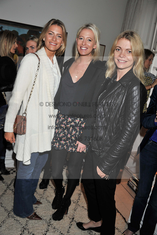 Left to right, PRINCESS TATIANA OF GREECE, the HON.SOPHIA HESKETH and the COUNTESS OF MORNINGTON at a lunch hosted by Roger Vivier held at Bella Pollen's home, 5 Stanley Crescent , London on 29th January 2013.