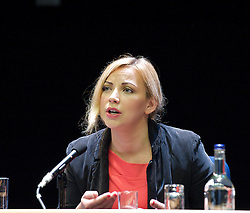 Conservative Party Conference, ICC, Birmingham, Great Britain <br /> 10th October 2012 <br />  Day 4<br /> <br /> Charlotte Church <br /> speaking at the Hacked Off fringe meeting <br /> <br /> <br /> <br /> Photograph by Elliott Franks<br /> <br /> United Kingdom<br /> Tel 07802 537 220 <br /> elliott@elliottfranks.com<br /> <br /> ©2012 Elliott Franks<br /> Agency space rates apply