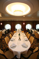 The launch of Royal Caribbean International's Oasis of the Seas, the worlds largest cruise ship..Opus Dining room.
