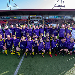 Sepsis Soccer Aid this afternoon played today at Stenhousemuir