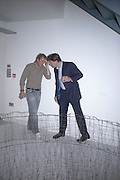 Hugo Rittson-thomas  and Charles Levenson.  Anticipation.- Produced by Flora Fairbairn. Curated by Kay Saatchi and Catriona Warren. 111 Great Titchfield St. London W1. 23 May 2007.  -DO NOT ARCHIVE-© Copyright Photograph by Dafydd Jones. 248 Clapham Rd. London SW9 0PZ. Tel 0207 820 0771. www.dafjones.com.