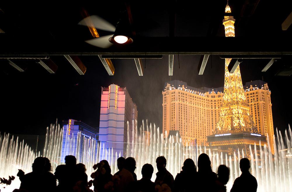 Drinks at Hyde night club at the Bellagio. Las Vegas, Nevada, USA