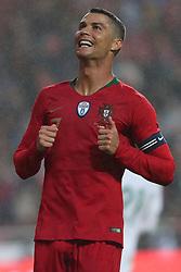 June 7, 2018 - Lisbon, Portugal - Portugal's forward Cristiano Ronaldo reacts during the FIFA World Cup Russia 2018 preparation football match Portugal vs Algeria, at the Luz stadium in Lisbon, Portugal, on June 7, 2018. (Credit Image: © Pedro Fiuza via ZUMA Wire)