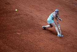 May 6, 2019 - Madrid, Spain - Kiki Bertens (NED) in her match against Jelena Ostapenko (LAT) during day three of the Mutua Madrid Open at La Caja Magica in Madrid on 6th May, 2019. (Credit Image: © Juan Carlos Lucas/NurPhoto via ZUMA Press)