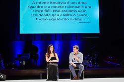 Clarice, A Alma Imortal durante o VOX - The Joy of Sharing, evento que  pretende provocar reflexões sobre o futuro da comunicação a partir do compartilhamento de conteúdo e experiências. FOTO: Vinícius Costa/ Agência Preview