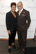 New York, NY-December 3: (L-R) Author/Designer Harriete Cole and Model Rashid Silvera attends Harriette Cole's 20th Anniversary Business Celebration held at Lafayette 148 Headquarters on December 3, 2015 in New York City.  (Photo by Terrence Jennings/terrencejennings.com)