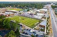 Aerial drone photo of Brookland-Cayce High School football stadium and Knox Abbott Drive in Cayce, SC. Photo @ www.JeffBlakePhoto.com