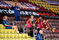 Bradford City's Manager Stuart McCall shouts instructions to his team from the seats behind the technical area<br /> <br /> Photographer Chris Vaughan/CameraSport<br /> <br /> Carabao Cup Second Round Northern Section - Bradford City v Lincoln City - Tuesday 15th September 2020 - Valley Parade - Bradford<br />  <br /> World Copyright © 2020 CameraSport. All rights reserved. 43 Linden Ave. Countesthorpe. Leicester. England. LE8 5PG - Tel: +44 (0) 116 277 4147 - admin@camerasport.com - www.camerasport.com