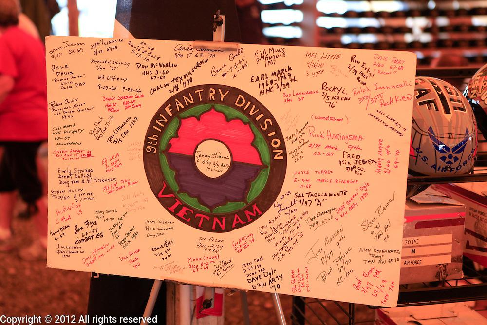9th Infantry Division signatures Kokomo Indiana Vietnam Veterans Reunion 2012