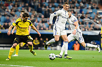 Real Madrid's Cristiano Ronaldo and Karim Benzema and Borussia Dortmund Sokratis Papastathopoulos and Julian Weigl during the UEFA Champions League match between Real Madrid and Borussia Dortmund at Santiago Bernabeu Stadium in Madrid, Spain. December 07, 2016. (ALTERPHOTOS/BorjaB.Hojas)