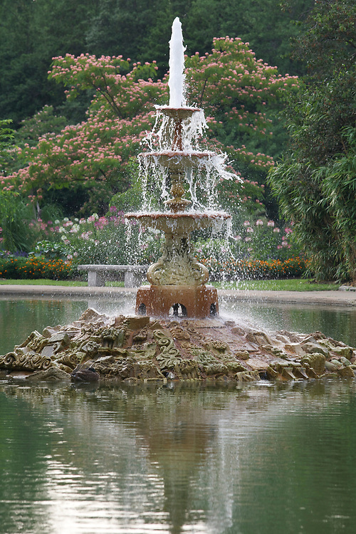 A fountain in Tower Grove Park in St. Louis, Missouri on July 1, 2007