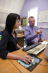 Man and Woman using sign language,