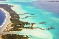 Aerial view of Bora Bora, Leeward Islands, French Polynesia