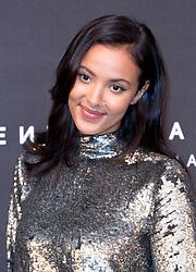 Maya Jama arrives at the Fenty Beauty by Rihanna launch party at Harvey Nichols, Knightsbridge, London,