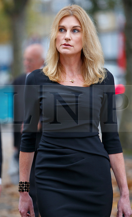 © Licensed to London News Pictures. 03/11/2015. London, UK. Sally Bercow attending a memorial service for ex-Liberal Democrat leader Charles Kennedy at St George's Cathedral in London on Tuesday, 3 November, 2015. Mr Kennedy died suddenly on June 1, 2015 at the age of 55 after suffering a major haemorrhage as a result of a long battle with alcoholism. Photo credit: Tolga Akmen/LNP