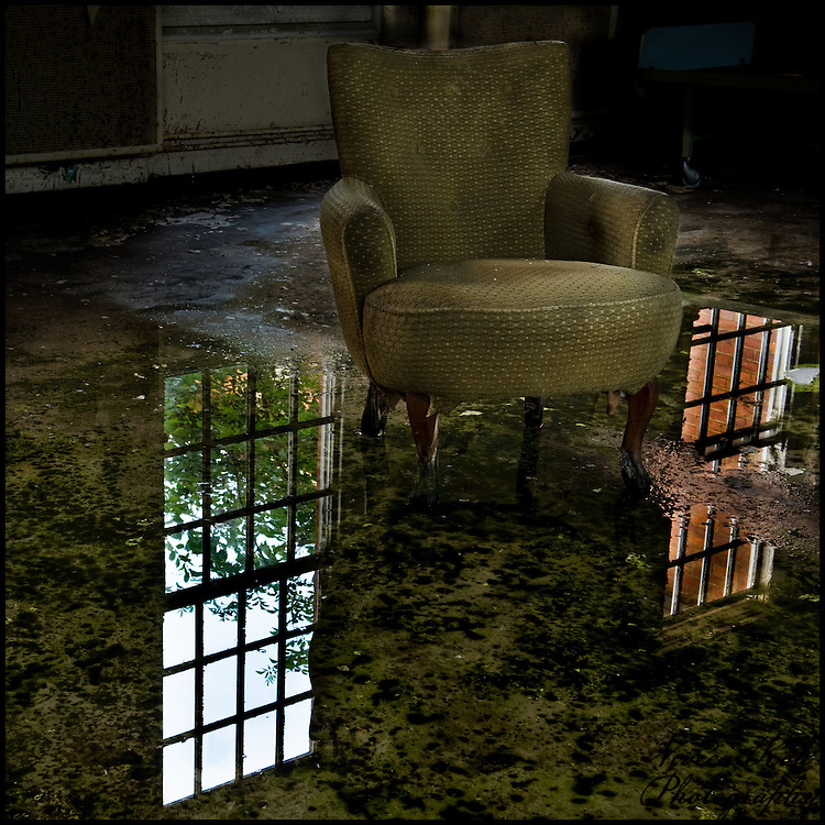 Armchair in a flooded ward