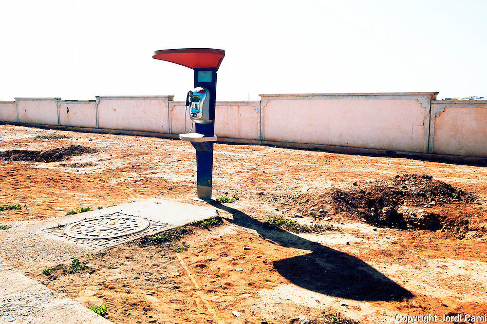 Public phone. Sidi Ifni. Morocco .North Africa.