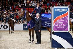 Eckermann, Henrik von (SWE);<br /> Roche, John (FEI Jumping Director) Mary Lou<br /> Göteborg - Gothenburg Horse Show FEI World Cups 2017<br /> © Stefan Lafrentz