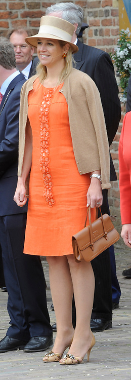 State Visit of the presidentof Chili , Michelle Bachelet to the Netherlands.<br /> <br /> On the photo Princes Maxima arrive At the Castle of Doorwerth to have a lunch