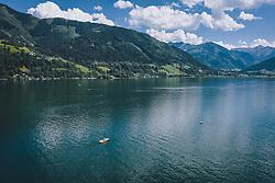 THEMENBILD - Übersicht des Zeller Sees, aufgenommen am 28. Juli 2020 in Zell am See, Österreich // General View of the Lake Zell, Zell am See, Austria on 2020/07/28. EXPA Pictures © 2020, PhotoCredit: EXPA/ JFK