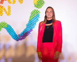 September 22, 2018 - Arena Sabalenka of Belarus on the red carpet at the 2018 Dongfeng Motor Wuhan Open WTA Premier 5 tennis tournament players party (Credit Image: © AFP7 via ZUMA Wire)