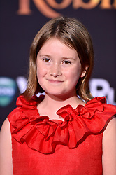 Bronte Carmichael attends the premiere of Disney's 'Christopher Robin' at Walt Disney Studios on July 30, 2018 in Burbank, Los Angeles, CA, USA. Photo by Lionel Hahn/ABACAPRESS.COM