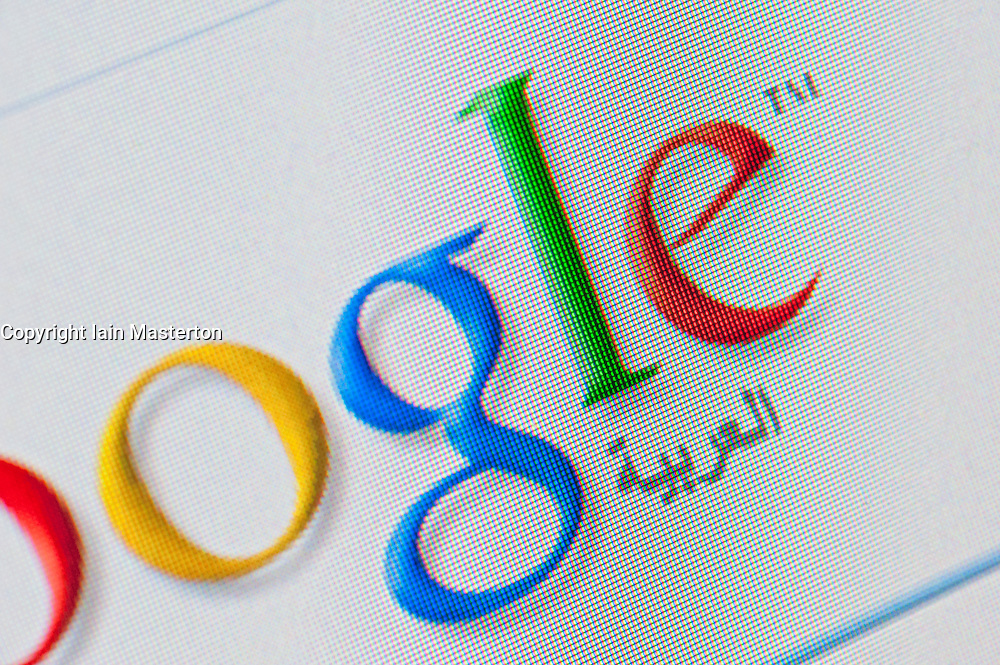 Detail of screenshot from website of Google Arabic search engine