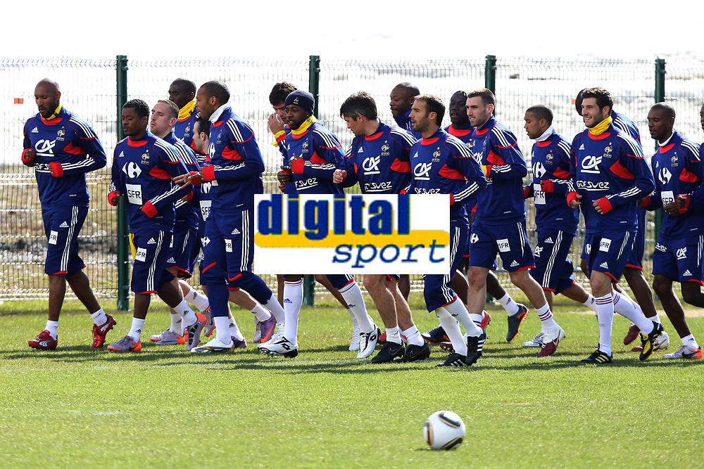 FOOTBALL - MISCS - WORLD CUP 2010 - TIGNES (FRANCE) - FRANCE TEAM TRAINING - 20/05/2010 - PHOTO ERIC BRETAGNON / DPPI - FRANCE TEAM