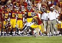 1 September 2007: #13 Stafon Johnson runs the ball during USC Trojans college football team defeated the Idaho Vandals 38-10 at the Los Angeles Memorial Coliseum in CA.  NCAA Pac-10 #1 ranked team first game of the season.