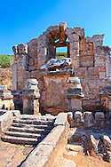 The fountain of the Acropolis which fed a canal running down  the main street of the city. Perge (Perga) archaeological site, Turkey .<br /> <br /> If you prefer to buy from our ALAMY PHOTO LIBRARY  Collection visit : https://www.alamy.com/portfolio/paul-williams-funkystock/perge-archaeological-site-turkey.html<br /> <br /> Visit our CLASSICAL WORLD HISTORIC SITES PHOTO COLLECTIONS for more photos to download or buy as wall art prints https://funkystock.photoshelter.com/gallery-collection/Classical-Era-Historic-Sites-Archaeological-Sites-Pictures-Images/C0000g4bSGiDL9rw