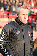 Charlton Athletic Manager Lee Bowyer  during the EFL Sky Bet League 1 match between Barnsley and Charlton Athletic at Oakwell, Barnsley, England on 29 December 2018.