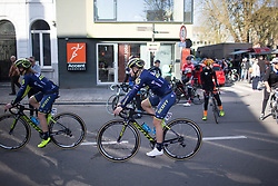 Georgia Williams (NZL) of Orica-AIS Cycling Team rides to the sign-on before the start of the Ronde Van Vlaanderen - a 153.2 km road race, starting and finishing in Oudenaarde on April 2, 2017, in East Flanders, Belgium.