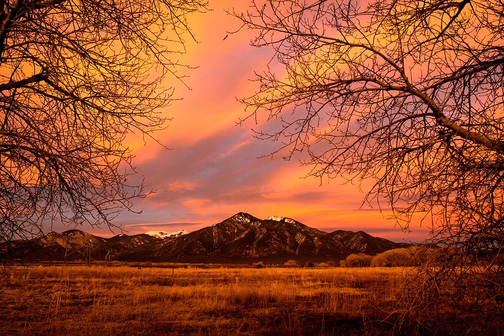 Taos Mountains' Pueblo Peak, El Prado, New Mexico