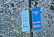 Winter Snow, Berks Co., PA Scene Penn State University, Berks Campus