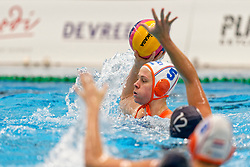 Iris Wolves #5 of Netherlands in action during the friendly match Netherlands vs USA on February 19, 2020 in Amerena Amersfoort.