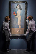 Fillette a la corbielle fleurie by Pablo Picasso, 1905, est $70-100m -Christie's unveil an exhibition of touring highlights from the Collection of Peggy and David Rockefeller, ahead of the New York sales (w/c 7 May).  they will be on public view in London from 21 February to 8 March.